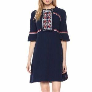 New Ella Moon Juliette Sleeve Embroidered Dress